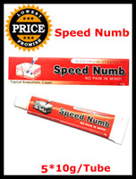 5Pieces / Lot 15.0 * 10.0 * 10.0 ( cm ) 10g/Tube New Tattoo Speed Numb Cream 10g*5PCS Tattoo Cream Anesthetic For Tattoo Body Piercing Free Shipping