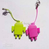 Wholesale USB Card Reader Android Robot Doll Mobile Phone Pendant Micro SD Card Reader