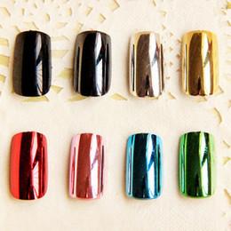 Metal nails low-price ultra bright metal coating long fingernails tiles false nail nail strips