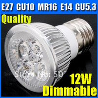 Wholesale Dimmable led spotlight E27 W W CE RoHS MR16 GU10 E14 spot light white warm white downlight