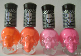 Wholesale 2013 New Fashion Nail Art Halloween Skull Nail Polish for colors nail enamel
