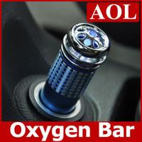 Wholesale Mini Auto Car Fresh Air Purifier Oxygen Bar Ionizer Car s Oxygen Bar blue red black silver Air Clean