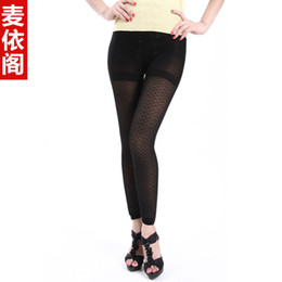 Wholesale Fish scale jacquard silk double layer ankle length legging meat velvet warm pants autumn and winter female