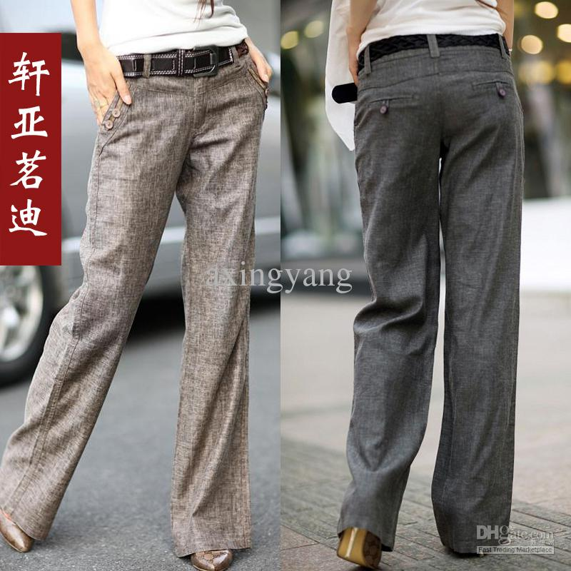 2017 Linen Pants Female 2013 Female Casual Fashion Straight Pants ...