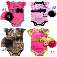 Wholesale NB Girl sets Leopard Bodysuit amp Hat overalls Zebra Lace rompers Jumpsuits U Pick Size Designs