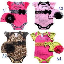 NB Girl 2pcs sets Leopard Bodysuit & Hat overalls Zebra Lace rompers Jumpsuits U Pick Size Designs