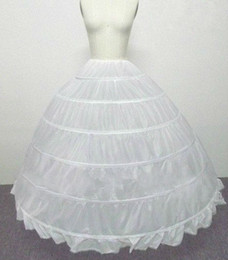 Wholesale White HOOP PETTICOAT crinoline SLIP Underskirt BRIDAL WEDDING dress Hot Sale