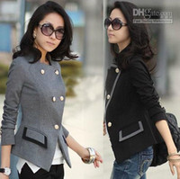 Women's spring coats - Fashion Women s Casual Suit Coat Black Grey Spring and autumn OL Coats for lady Jacket Clothing