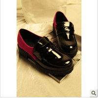 Wholesale 2013 new tide leisure patent leather hit the color spell color glossy retro rough with small heavy b