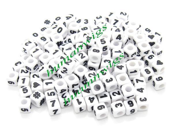 500pcs new fashion numerical symbol acrylic