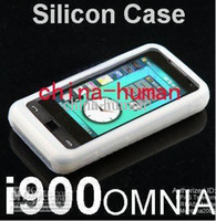 Wholesale 200pcs Silicone Skin Case Cell Phone Cases Pouches for Samsung SGH i900 Omnia i908
