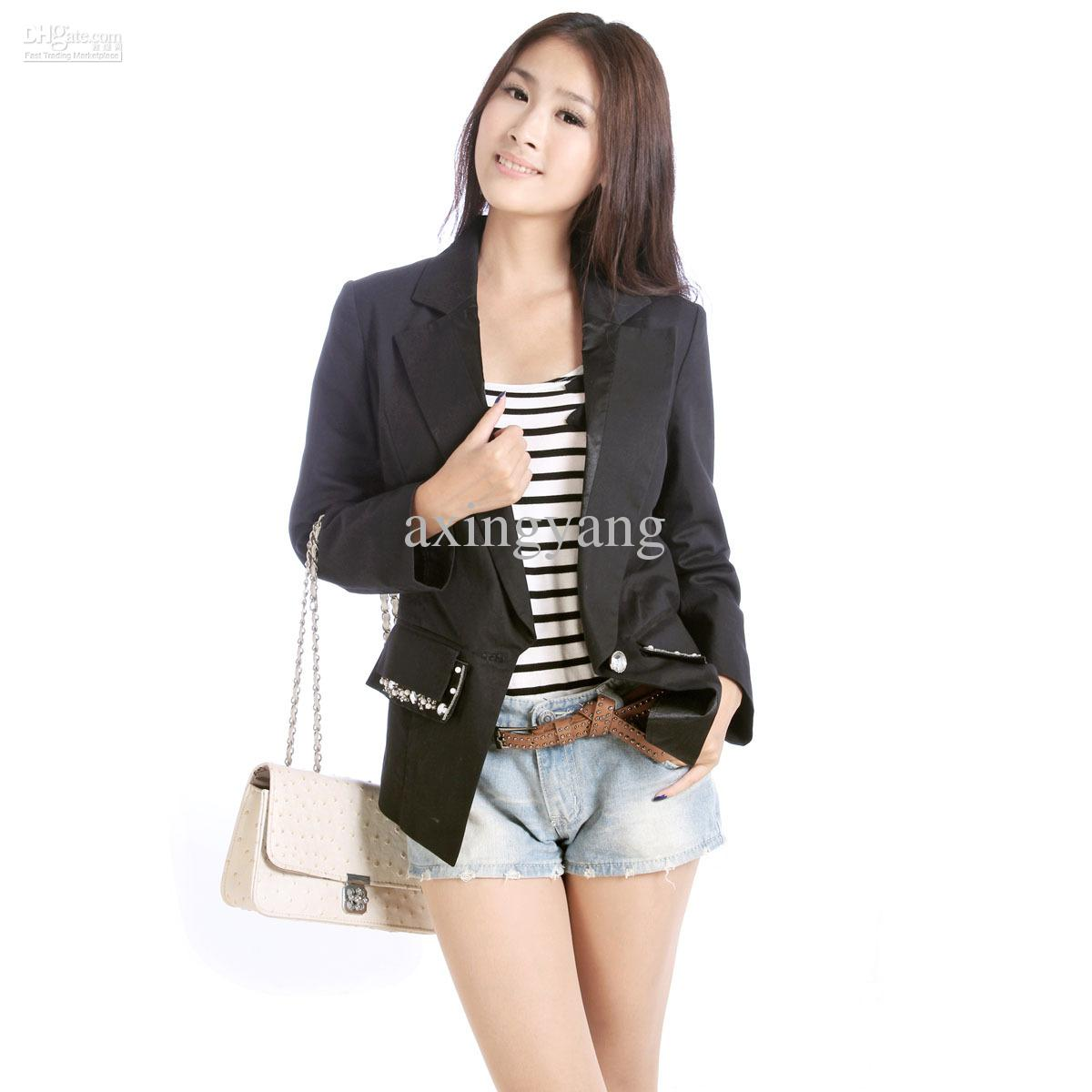 Casual Suits For Womencasual Cool Womens Black Tops Suit Blazer