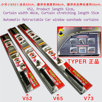 Wholesale TypeR Automatic Retractable car window sun shade curtains side window sunshade black curtain color