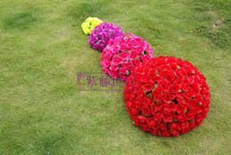 """30CM 12"""" Rose flower ball Artificial silk Kissing Balls Hanging Flowers Ball For Wedding Christmas Ornaments Party Decoration Supplie"""