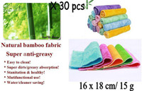 Wholesale color dish cloth bamboo fiber washing dish cloth magic multi function wipping cleaning rags