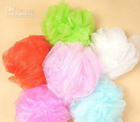 bath shower accessories - Cool ball bath towel scrubber Body cleaning Mesh Shower wash Sponge product accessories