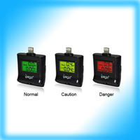 Wholesale 100pcs L New Design Digital LCD Breath Alcohol Tester With Light Breathalyzer For Iphone Touch Ipad amp mini