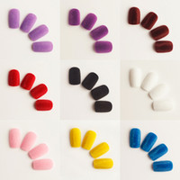 Wholesale Velvet with nail patch entry level velvet false nails to ensure the quality of tablets