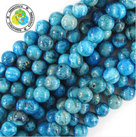 Wholesale mm DIY natural Blue crazy lace Agate Round loose Beads