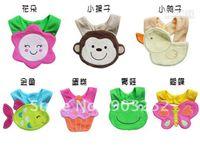 Wholesale 10pcs styles Animal Prints Modeling Infant amp Toddler s Cotton Bibs Waterproof Baby Bibs Animal c
