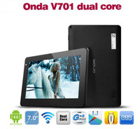 Wholesale ONDA V701 Dual core quot Multi touch Android GB Tablet PC HDMI WiFi CPU GHz RAM GB MOQ