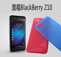 Wholesale New S line Solid color Soft TPU Gel Back skin cover cases For Blackberry BB Z10 BB10 case