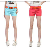 Wholesale Newest summer New cowboy shorts woman fashion Candy colors Mini shorts Denim skirt for women