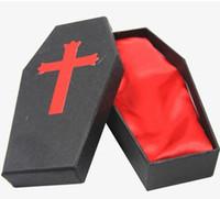 Wholesale lastest pc classic red coffin tattoo box for tattoo machine gun unit