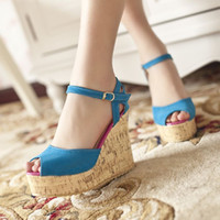 Women other PU Casual all-match strap open toe wedges sandals s033-1 65