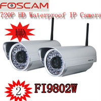 Wholesale 2 Genuine Foscam FI9802W HD MegaPixel Outdoor Wireless IP Security Camera H webcam