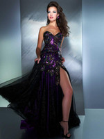 Cheap 2013 New Sweetheart Peacock Split Tulle Prom Dresses with Rhinestones and Zipper Back MD 42660M