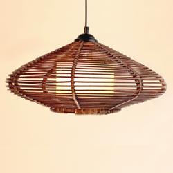 Southeast Asia Rattan Oval Dining Room Ceiling Pendant Lights Handmade Study Room Restaurant Parlor Pendant Chandelier Fixtures