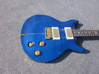 Wholesale Lake blue color electric guitars handmade music instrument chinese factory hot sell