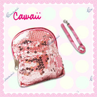 Wholesale Cawaii pet bag pink paillette dog backpack