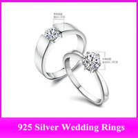 Wholesale Silver Wedding Rings White Topaz Gemstone Rings Jewelry Cheap Engagement Rings