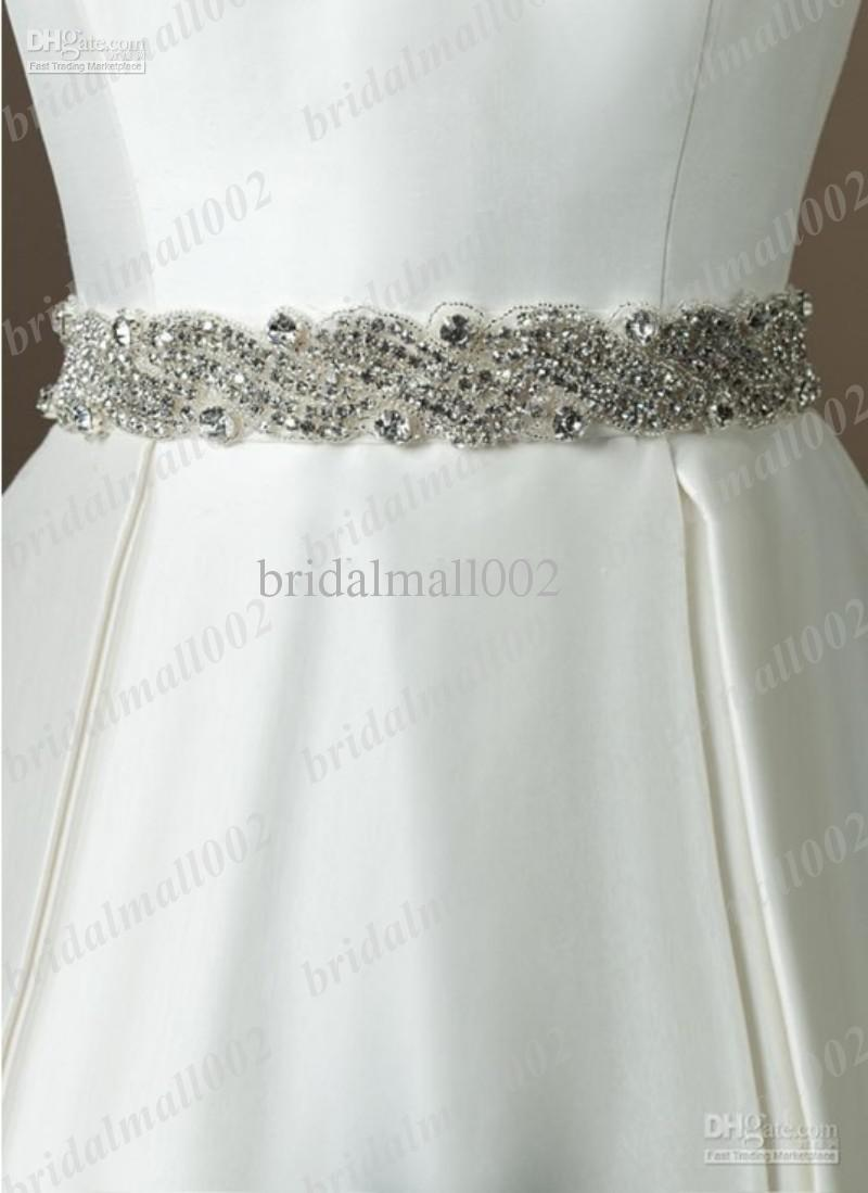 2015 glamorous dazzing exquisite crystals beaded wedding for Wedding dress sashes with crystals