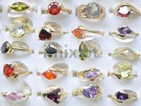 rings jewellery - 50pcs Fashion Alloy Metal Zirconia Rings Jewelry CZ Rings Jewellery Fashion Zircon Rings CZ36