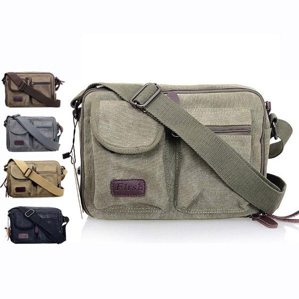 Men'S Canvas Messenger Bag Unisex Cross Girl'S School Bag Women'S ...