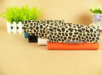 Women Animal Print PU Fashion Leopard Diamond wallet purse Long zipper wallet PU Leather Wallet Case Cover for iPhone 4 4S