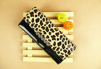 Women Animal Print PU Leopard print Flip PU Leather Wallet Case Cover Skin Variety Colors Long zipper wallet for iPhone 4