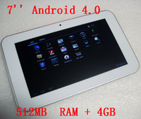 White Android 4. 0 Tablet PC with 7 inch 16: 9 wide TFT LED sc...
