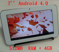 White Android 4. 0 512MB DDR3+ 4GB Tablet PC with 7 inch 16: 9 ...