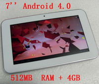 Retail White Android 4. 0 512MB DDR3+ 4GB Tablet PC with 7 inc...