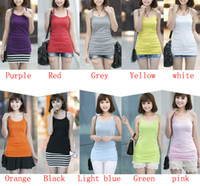 Wholesale MONDE SWM Basic Womens Solid Tank Top Racer Back Cami Vest No Sleeve T Shirt Mix Color