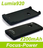 Wholesale Retail mAh External Backup Battery Cover Case For Nokia Lumia920 Charging protect