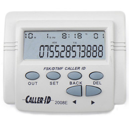 Free Shipping 1 Piece New Mobile Telephone Display DTMF FSK Caller ID White