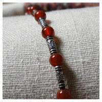Wholesale Hand made Thailand silver bead sardonyx exquisite craftwork Easy match bracelet Z2