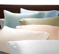 Wholesale 100 pure mulberry silk pillowcases mm with many colors queen size cm