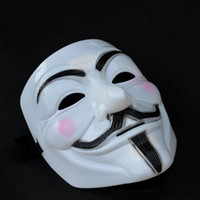 Wholesale V for Vendetta Mask Guy Fawkes Halloween Party Face Mask Costume Mask Worldwide
