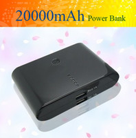 Wholesale 20000mAh Portable Power Bank Mobile Power Bank Charger Dual USB Power Backup Battery